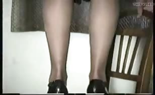 Vintage video of a milf peeing
