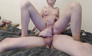 Emo step sister riding dick