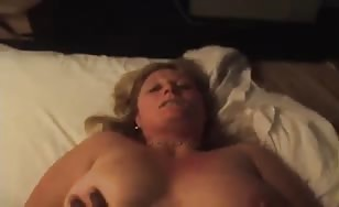 Blonde milf can't handle bbc